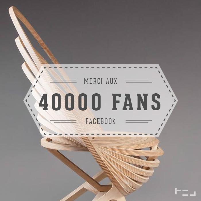 Merci aux 40 000 Fans Facebook blog esprit design