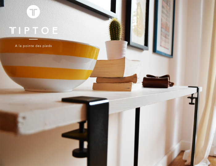 Tiptoe le pied nomade par kevin torrini et matthieu bourgeaux for Pied table design