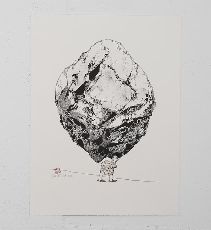 Tout un art lithographie par Ella & Pitr