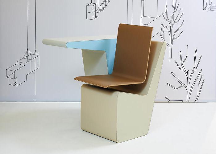 #006 SIDE SEAT LE POSTE DE TRAVAIL COMPACT PAR STUDIO MAKKINK & BEY - 2013