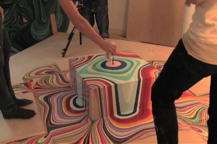L'ART DE LA PEINTURE QUI COULE PAR HOLTON ROWER - 2011