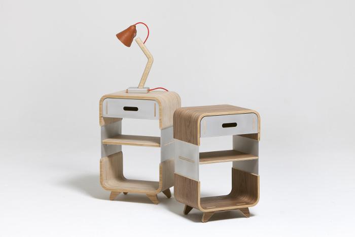 Interview : Kenny Vanden Berghe designer belge - Metal & Wood Bedside Cabinet