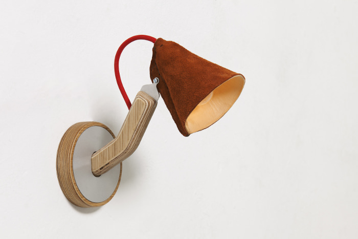 Interview : Kenny Vanden Berghe designer belge - Metal & Wood Leather Wall Mounted Lamp