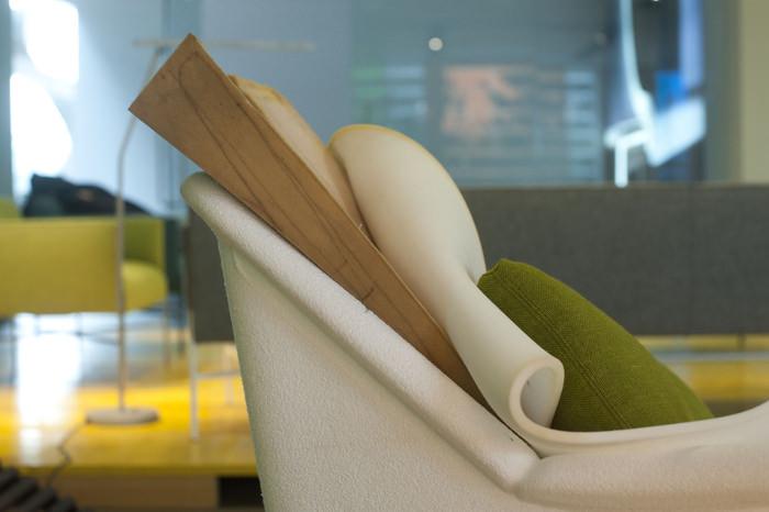 Details prototype - Chaise Atoll Patrick Norguet Designer pour Tacchini