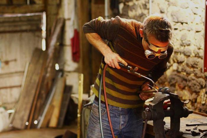 Lampe nautile de l'artisan d'art Olivier Le Clerc