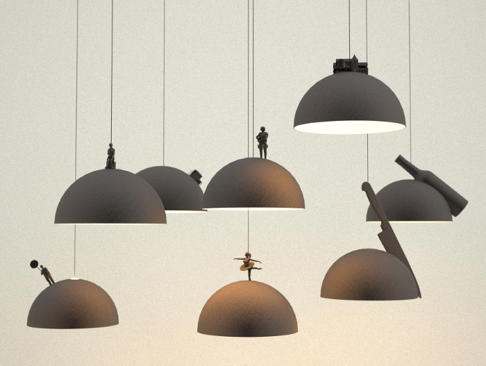 Land lamps par Leonardo Fortino