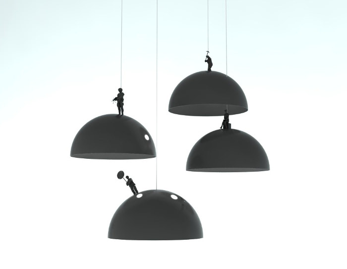 3D - Land lamps par Leonardo Fortino