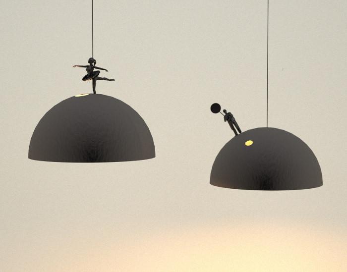 Land lamps par Leonardo Fortino