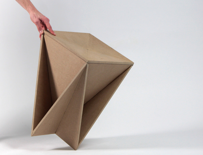 Stool concept tabouret origami guillaume allemon bed for How to make a paper design