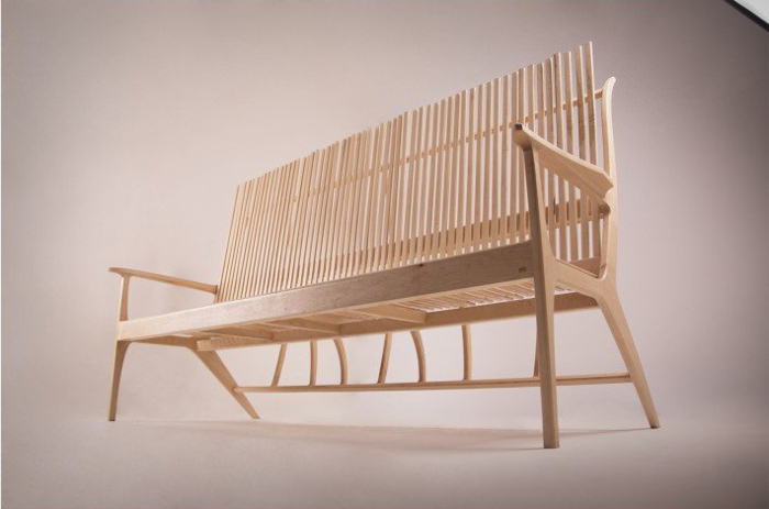 Wood Stick Sofa by Jeong Kyu Park