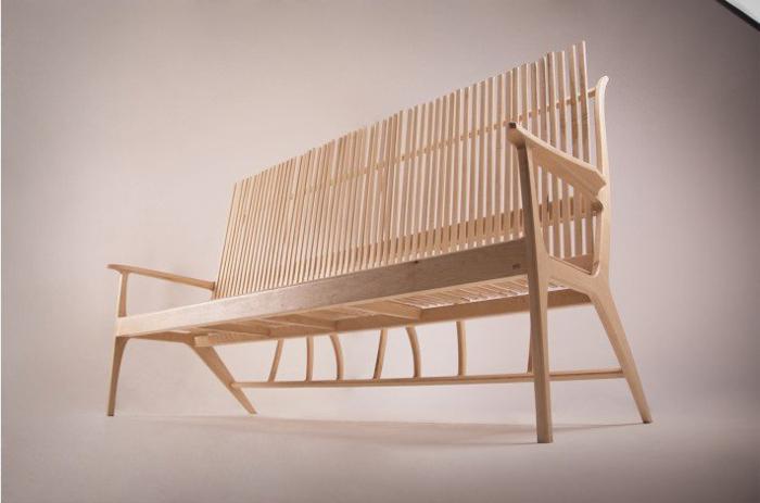 Wood Stick Sofa by Jeong Kyu Park