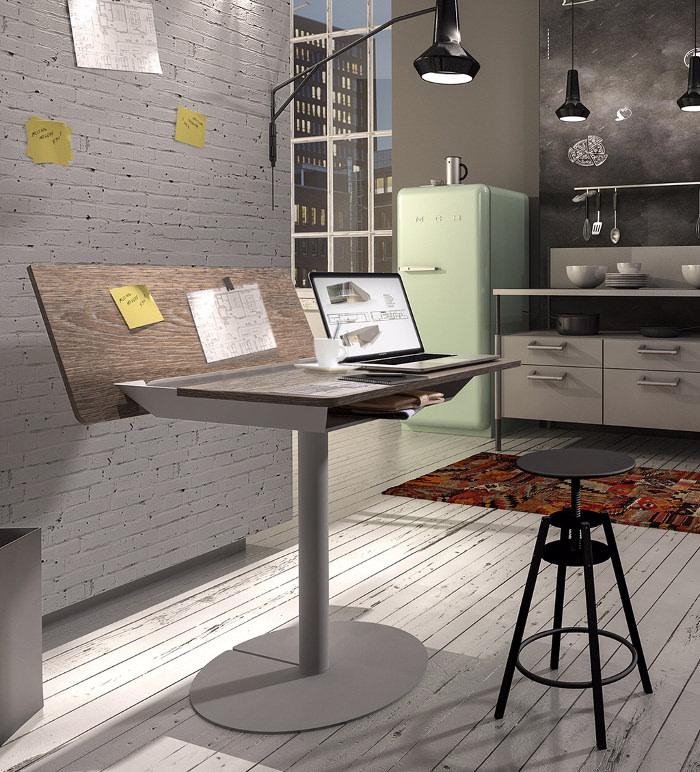duotable bureau design par le studio allemand Michael Hilgers
