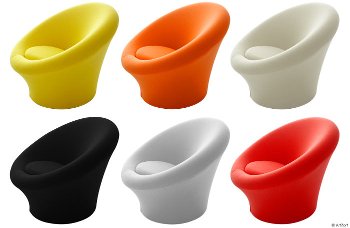 fauteuil design mushroom designer pierre paulin blog espritdesign 3 blog esprit design. Black Bedroom Furniture Sets. Home Design Ideas