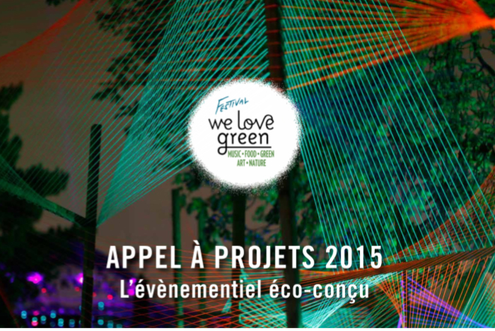 Appel à projets : Festival We Love Green 2015