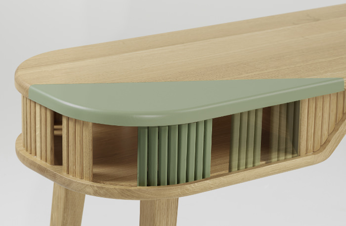 Collection latitude mobilier coloré par Julie Gaillard