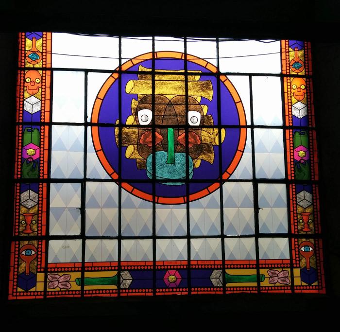 Travail de vitrail - exposition Form Follows Information