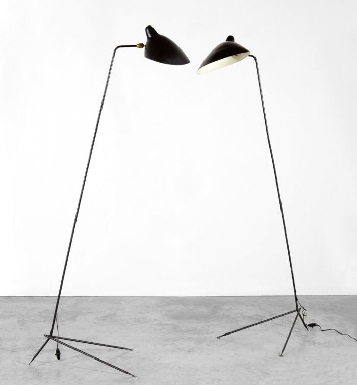 Histoire de design les luminaires de serge mouille - Lampadaire serge mouille ...