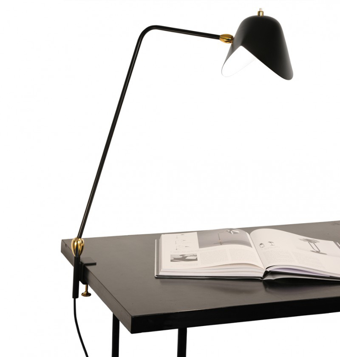 Histoire de design les luminaires de serge mouille for Ikea drafting table with lightbox