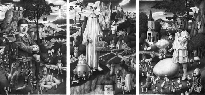 Egg Triptych - Rencontre Amandine Urruty