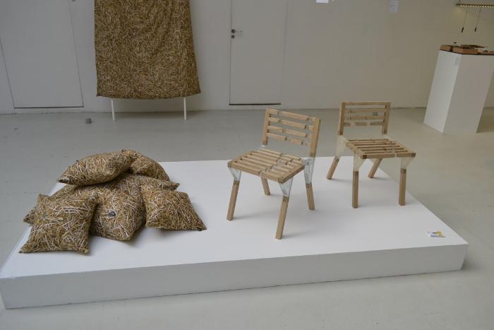 Quartz chaise bois résine par Taichi Sekiguchi