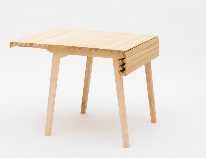 Table extensible design bois for Table extensible design
