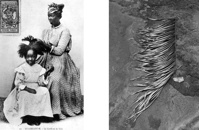 Images de référence : La coiffure de Yaia, scènes et types vers 1910 en Guadeloupe (carte postale ancienne) - Penti (série Pikin Slee), Viviane Sassen