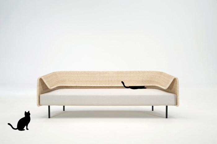 Wrap le sofa en rotin par Hiroomi Tahara