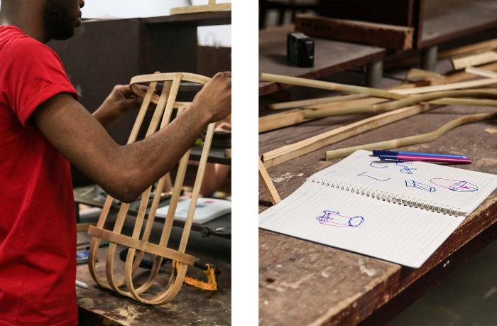 Projet en cours, Sac avec armature en bambou, Florian Dach & Dimitri Zephir