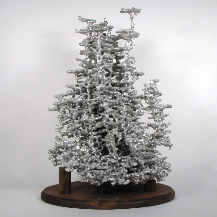 Anthill Art, Aluminium Fire Ant Colony Cast, Anonyme, Aluminium (2014) © Anthill Art