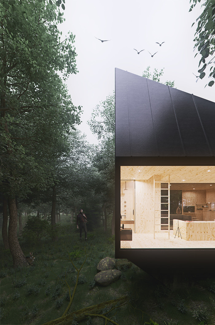 Cabin in the forest par Tomek Michalski