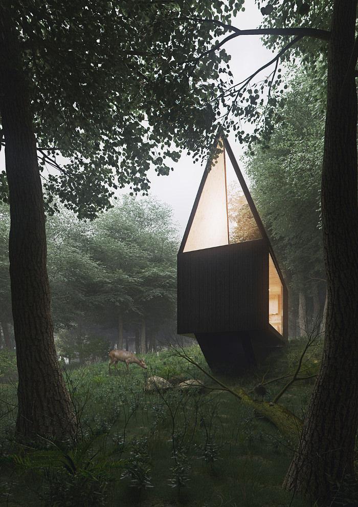 Cabin in the forest par Tomek Michalski
