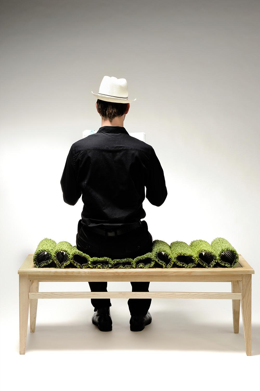 Courbes vertes banc durable par Benjamin Rousse
