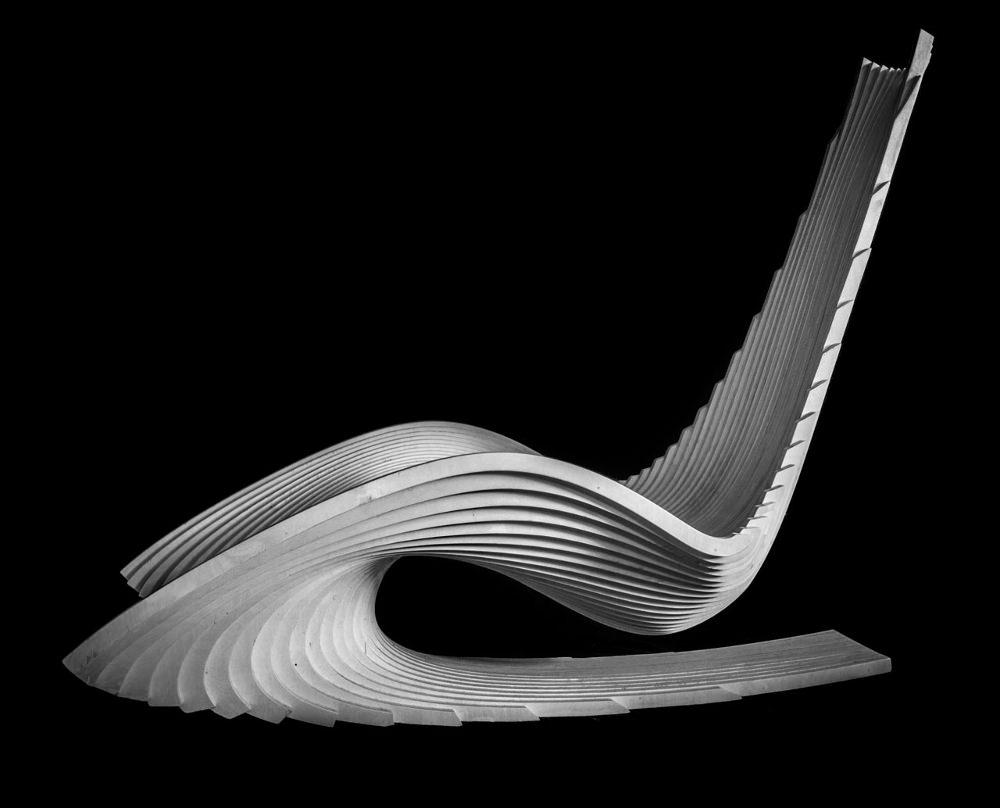 DIWANI rocking chair calligraphie par AE Superlab