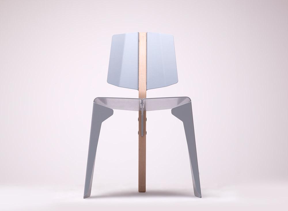 kobuz chaise bois m tal par wo mierzwa blog esprit design. Black Bedroom Furniture Sets. Home Design Ideas