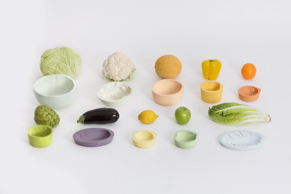 Reversed volumes bowls par Mischer Traxler Studio