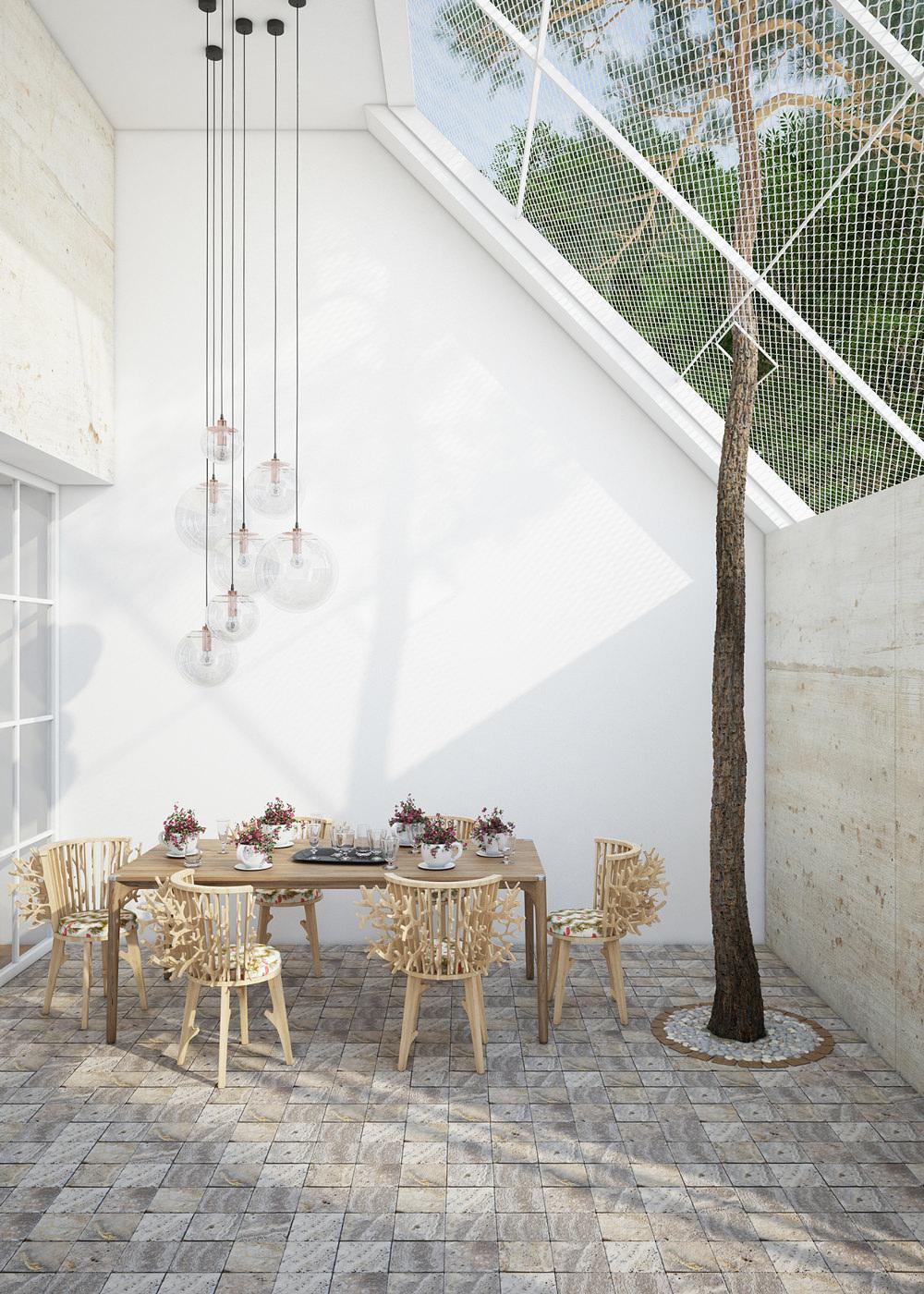 Branch chair la chaise nature par le studio Fajno