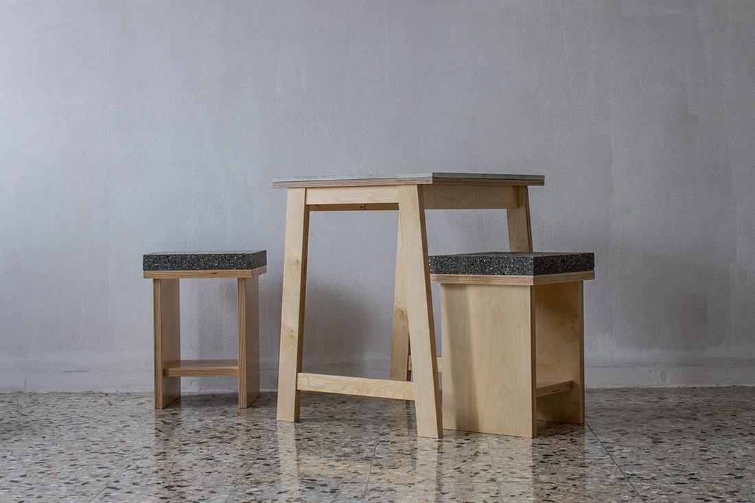 marbled stools par davide g aquini blog esprit design. Black Bedroom Furniture Sets. Home Design Ideas