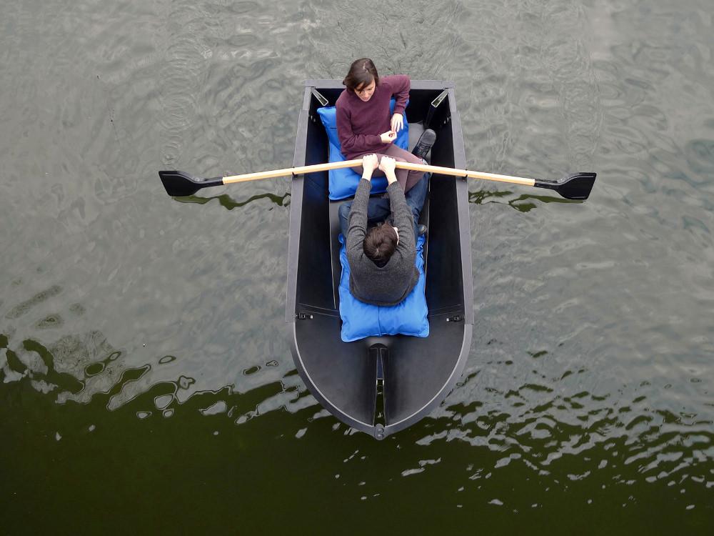 Vaguer objets à flotter - Projet bateau floding boat par Max Fommeld et Arno Mathies
