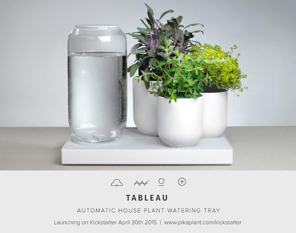 Tableau pot de fleur autonome par Pikaplant