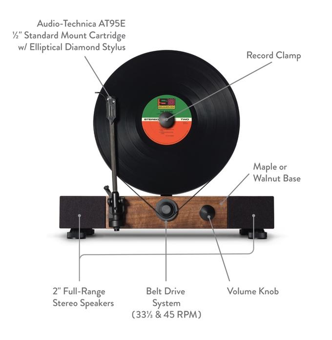 Floating Record platine vinyle verticale par Gramovox