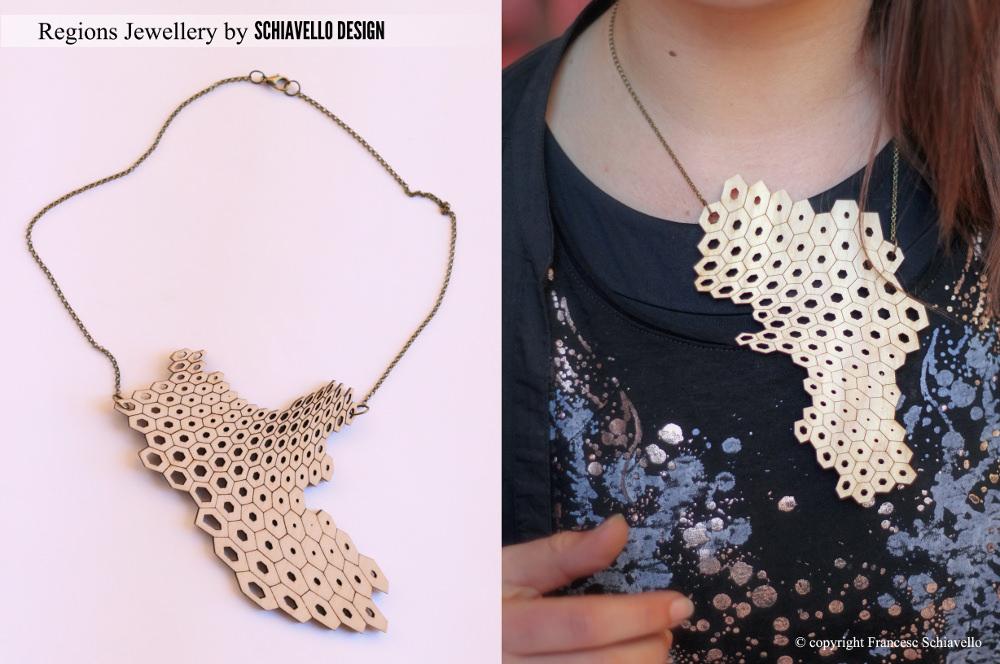 be[e] Italy collection de bijoux bois par Schiavello Architects Office