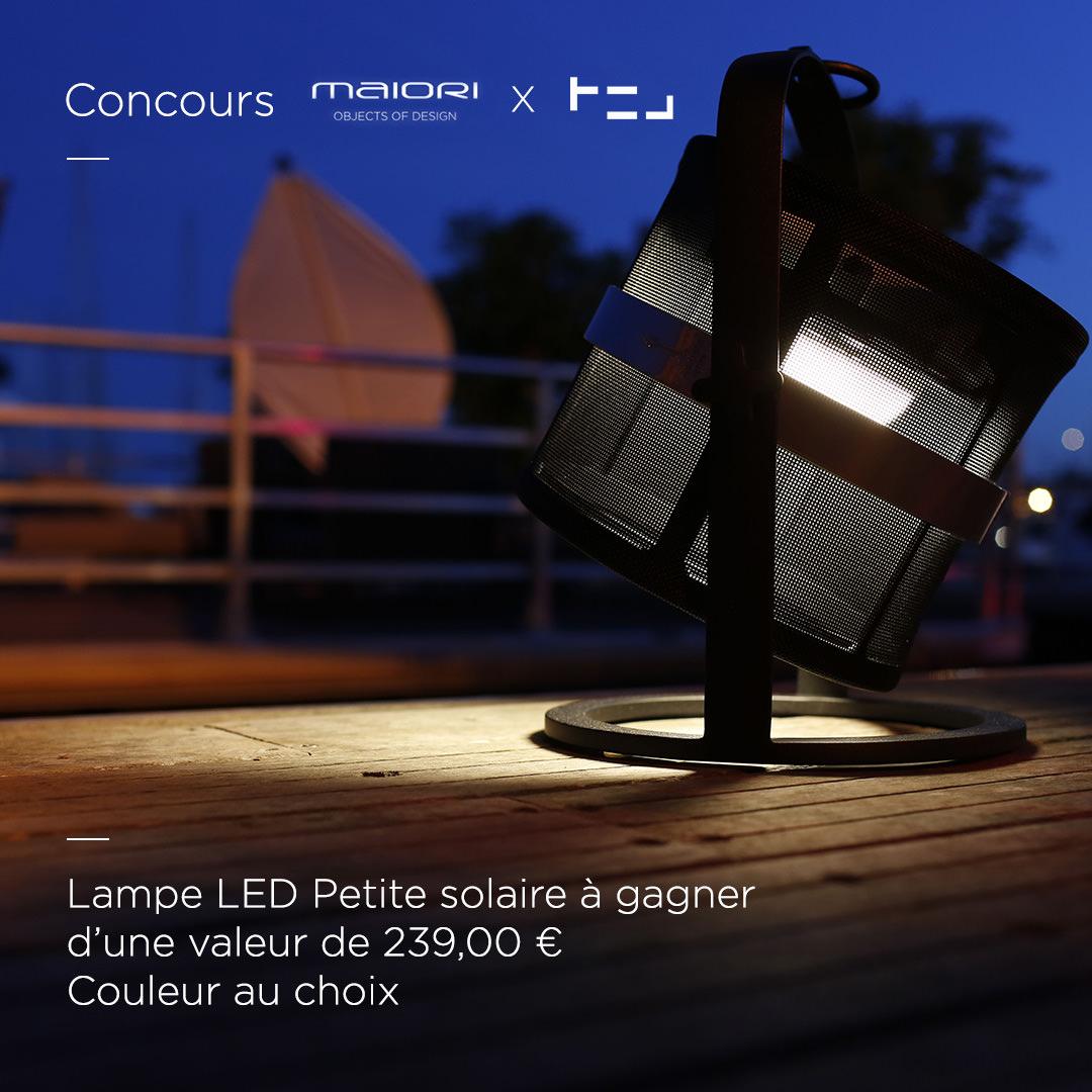 CONCOURS Lampe solaire à GAGNER avec Maiori