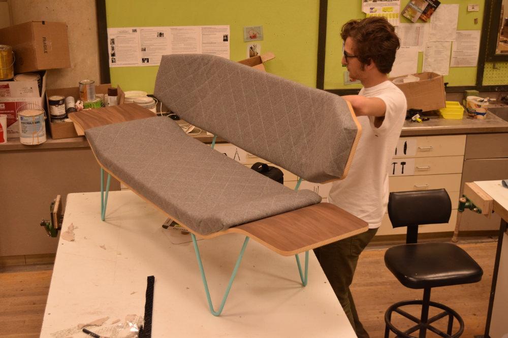 Projet étudiant : Ames Seat sofa par Ben Pedrick