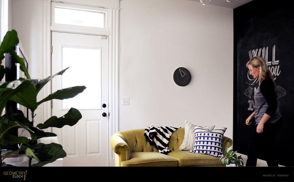 Geometry clock horloge minimaliste par Mauricio Romani