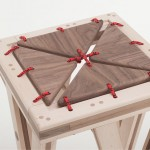 Timber tabouret souple de bois par Greg Howe