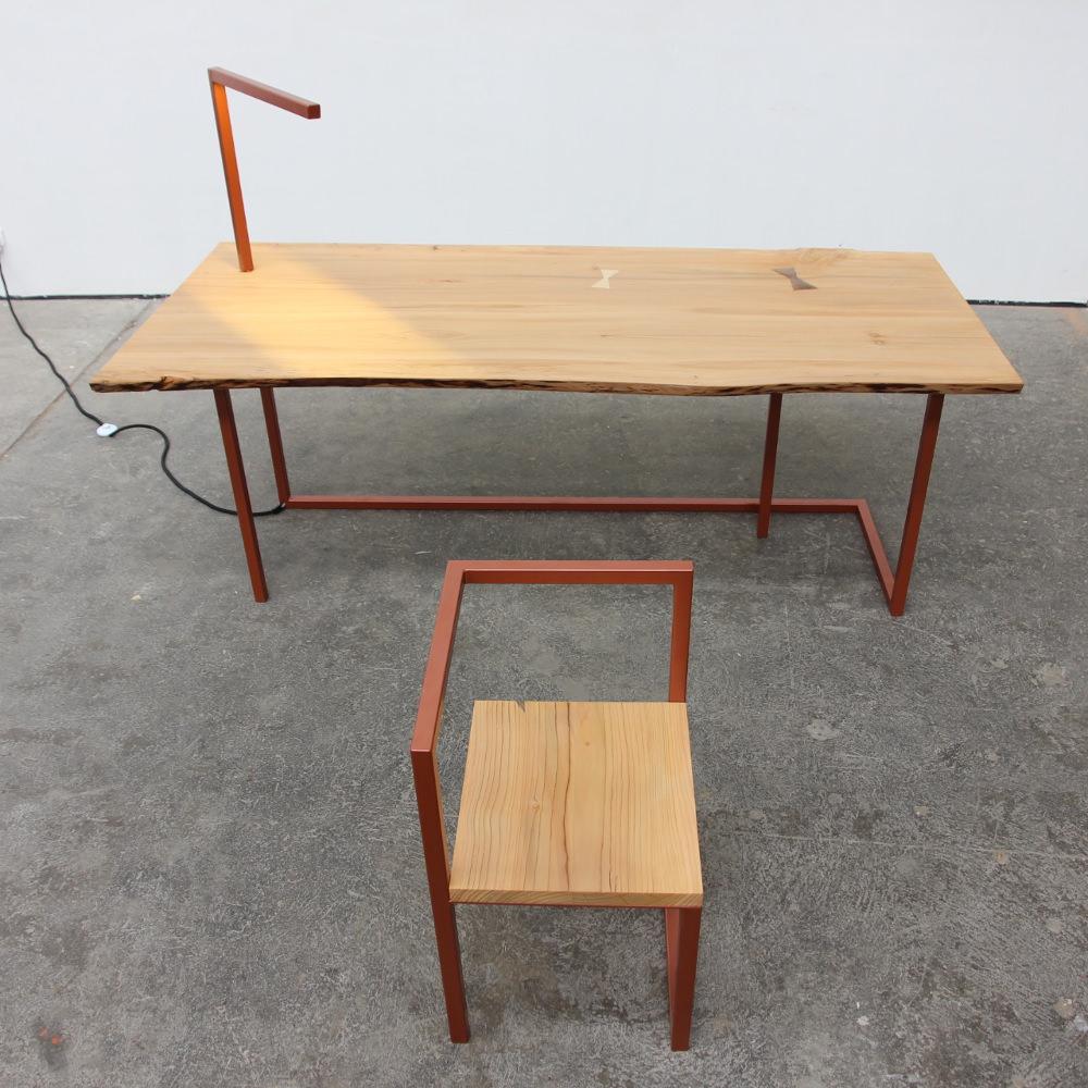 Table Bureau Bois Chaise Chaise Bois Metal Chaise De Table M Tal  # Meuble En Boi