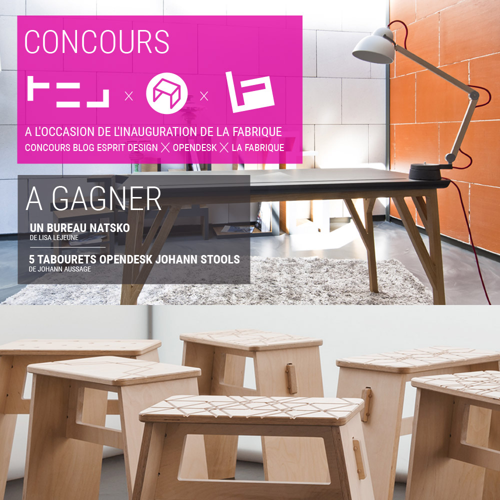 concours opendesk x la fabrique x blog esprit design. Black Bedroom Furniture Sets. Home Design Ideas