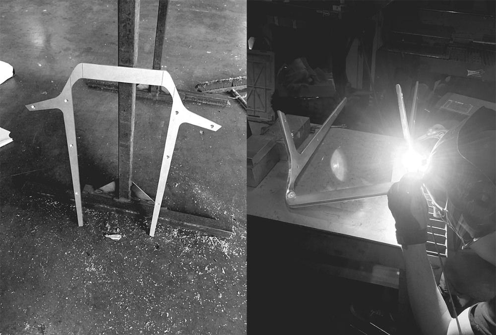 Atelier fabrication - KURVA tabouret de bar par Jordan Steranka