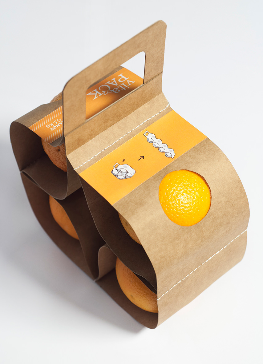 Packaging : VitaPack pour oranges par Ágnes Gyömrei