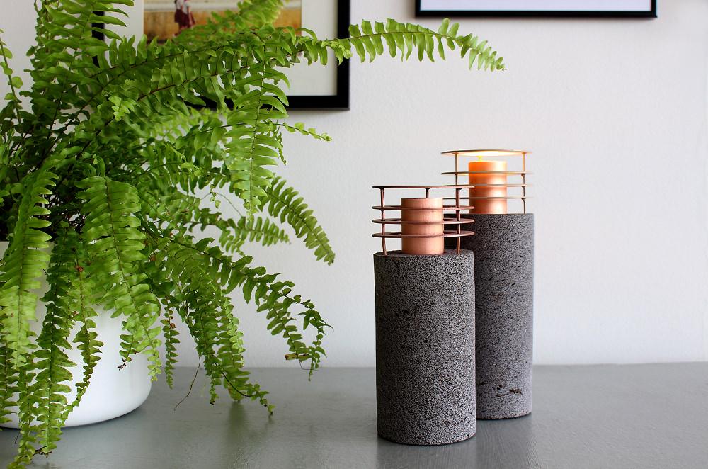 Lampii luminaire en pierre par Fabien Barrero